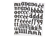 Transfert textile alphabet noir - 103 lettres - Transferts et Thermocollants - 10doigts.fr