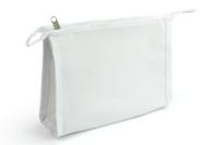 Trousse de toilette en coton blanc avec fermeture éclair - Support textile à customiser - 10doigts.fr