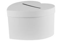 Urne coeur en carton blanc - Boîtes en carton - 10doigts.fr