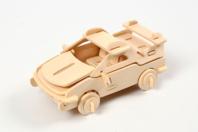 Voiture 3D en bois naturel à monter - Maquettes en bois - 10doigts.fr