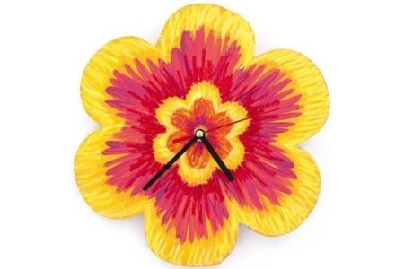 Horloge fleur - Déco du bois - 10doigts.fr