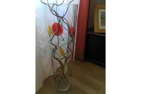 vase en verre peint - Céramique, verre - 10doigts.fr