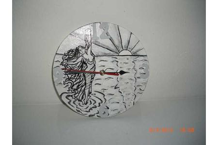 horloge  - Déco du bois - 10doigts.fr