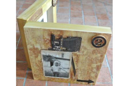 Cadre décoré façon scrap - Scrapbooking - 10doigts.fr