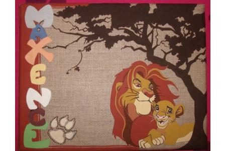 Le roi de la jungle avec prénom - Peinture - 10doigts.fr