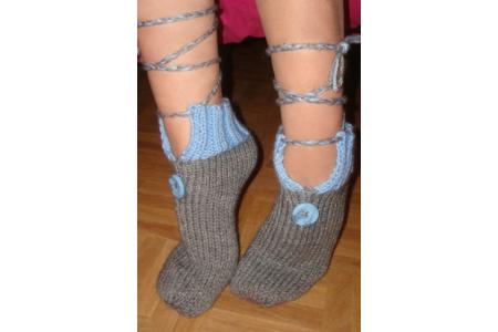 chausson de laine femme - Laine - 10doigts.fr