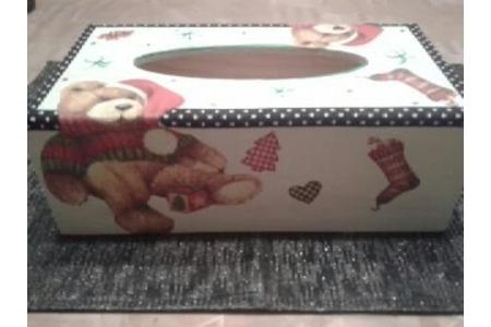 boites a mouchoirs - Vernis collage papiers, serviettes - 10doigts.fr