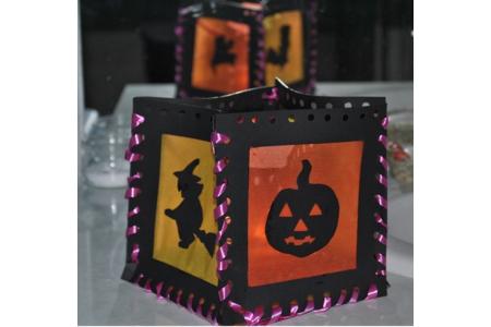 lanterne halloween - Créations d'enfant - 10doigts.fr