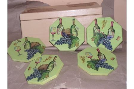 dessous de bouteilles - Déco du bois - 10doigts.fr