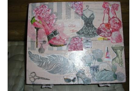 Boîte à Trésors - Vernis collage papiers, serviettes - 10doigts.fr