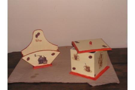 porte filtres et boites à café - Déco du bois - 10doigts.fr
