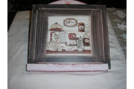 toile thème chocolat  - Vernis collage papiers, serviettes - 10doigts.fr