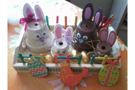 Famille lapins de Pâques - Pâques, Noël - 10doigts.fr
