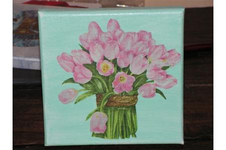 toile avec tulipe - Divers - 10doigts.fr
