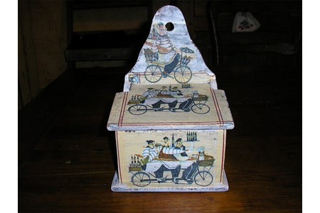 Boîte à sel - Vernis collage papiers, serviettes - 10doigts.fr