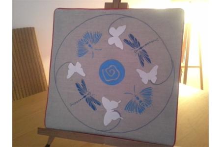 Mandala Papillon - Déco du textile - 10doigts.fr