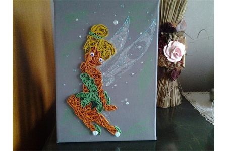 fée clochette - Quilling - 10doigts.fr