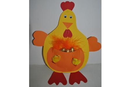 poule églantine - Pâques, Noël - 10doigts.fr