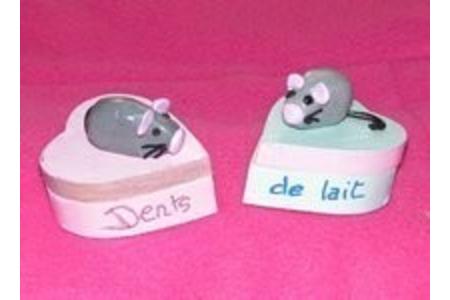 Boîtes à dents de lait - Déco du bois - 10doigts.fr