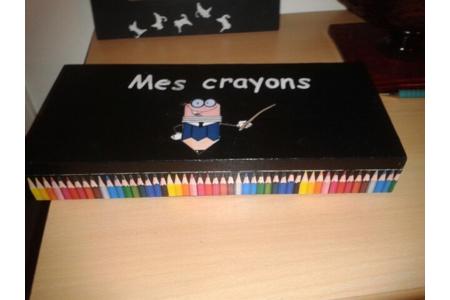 Boîte à crayons - Déco du bois - 10doigts.fr