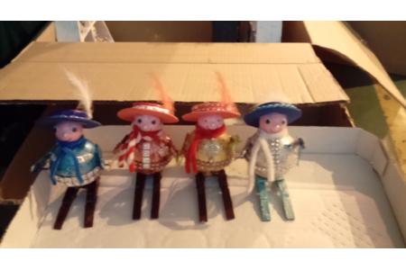 petits skieurs de Noël - Créations d'enfant - 10doigts.fr