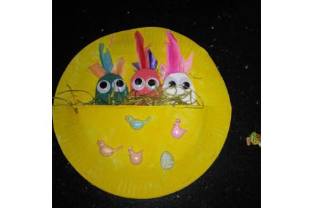Les petits poussins de Pâques - Créations d'enfant - 10doigts.fr