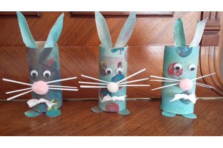 Lapin de Pâques - Créations d'enfant - 10doigts.fr