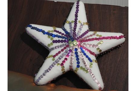 étoile scintillante - Créations d'enfant - 10doigts.fr