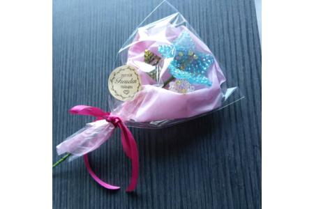 Fleur bleu - Perles, bracelets, colliers - 10doigts.fr