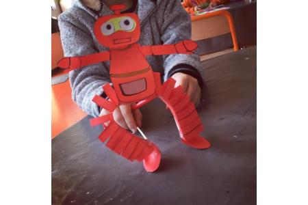 nono le petit robot - Créations d'enfant - 10doigts.fr