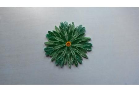 Quilling fleur verte - Quilling - 10doigts.fr