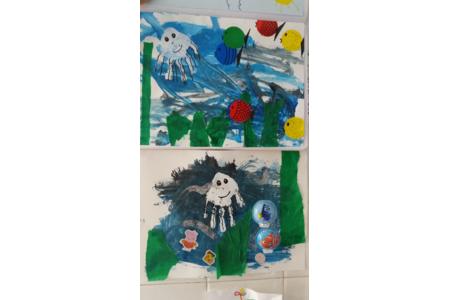 art plastique LA MER - Créations d'enfant - 10doigts.fr