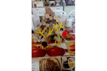 décoration Noël avec des bouchons en liège - Créations d'enfant - 10doigts.fr
