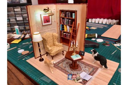 Décor miniature - Bibliothèque incrustée dans un livre - Divers - 10doigts.fr