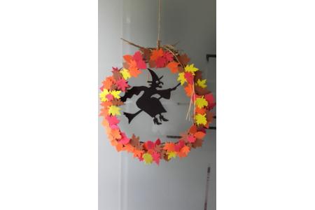 Couronne d'Halloween - Fêtes, déguisements - 10doigts.fr