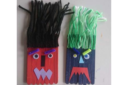 Monstres de Halloween - Créations d'enfant - 10doigts.fr