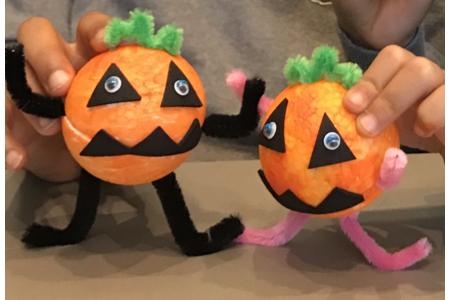 Les petites citrouilles d'halloween - Créations d'enfant - 10doigts.fr