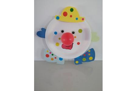 Clown carnaval - Créations d'enfant - 10doigts.fr
