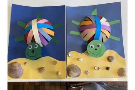 Les tortues de mes jum's - Créations d'enfant - 10doigts.fr
