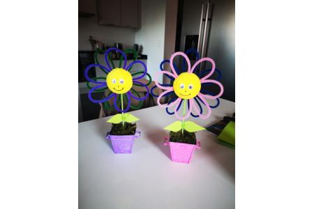 Fleur en pot - Déco du métal - 10doigts.fr