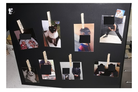 Pêle-mêle photos magnétique - Peinture - 10doigts.fr