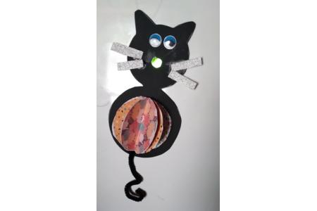 Chat d'Halloween - Créations d'enfant - 10doigts.fr