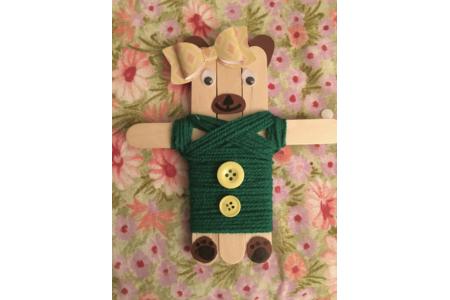 magnet ourson - Créations d'enfant - 10doigts.fr