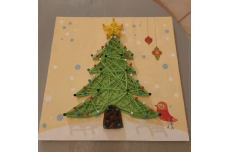 String art sapin de Noël - Couture, point de croix... - 10doigts.fr