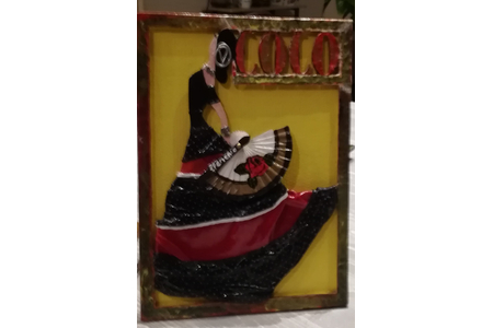 Tableau bois en relief. La danseuse Espagnole - Déco du bois - 10doigts.fr