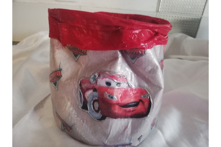 Pot à crayons enfants - Thème CARS - Couture, point de croix... - 10doigts.fr