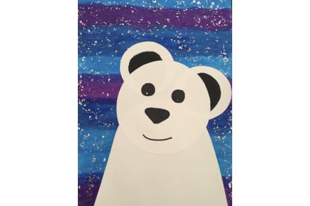 l'ours polaire de Ninon - Créations d'enfant - 10doigts.fr