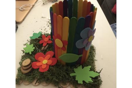 Un pot pour les crayons saison printemps - Feutrine, feutrage - 10doigts.fr