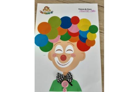 Le clown d heloise - Créations d'enfant - 10doigts.fr