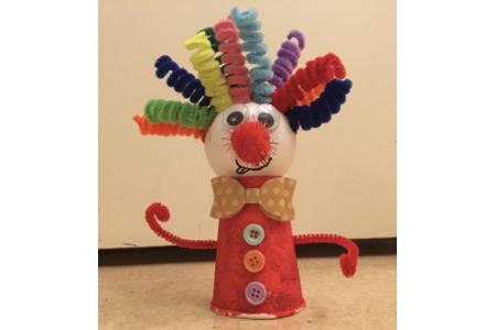 Le clown de Ninon - Créations d'enfant - 10doigts.fr